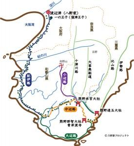 西側燈籠_東面地図
