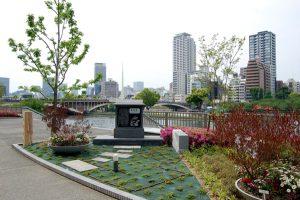 緑の一里塚渡辺津記念碑周辺